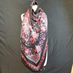Vintage Accessories - Vintage Laura Ashley 100% wool floral scarf